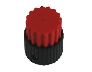 Military Red Tactile Knob MS91528-2N2B4