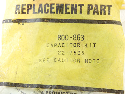 Zenith 800-863 4 Lead Safety Capacitor Kit