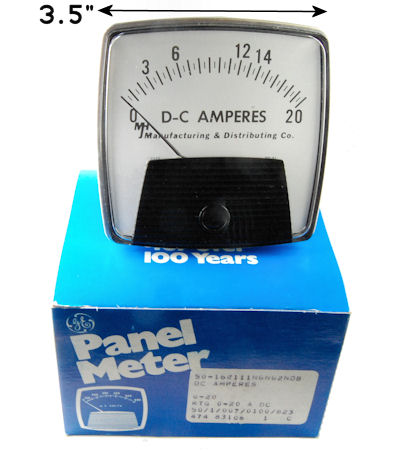 20 Ampere General Electric DC PANEL METER
