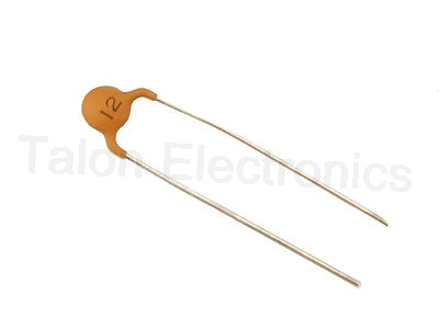 12pf 100V Ceramic Disc Capacitor U2M / N750