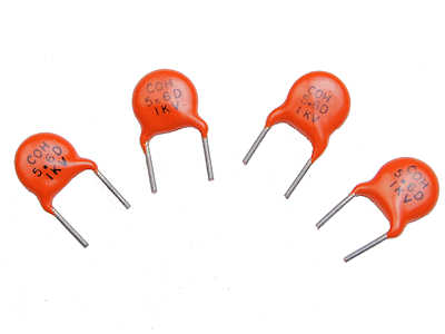 5.6pF 1KV Ceramic Disc Capacitors C0H with Trimmed Leads (Pkg of 4)