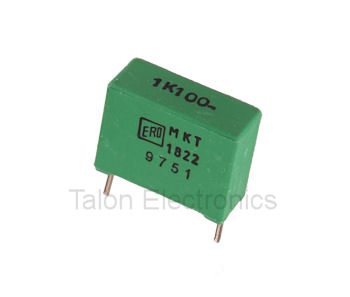 1.0uF / 100V MKT 1822 Metallized Polyester Film Radial Box Capacitor (Pkg of 3)