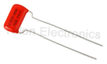 .01uF/ 400VDC Orange Drop radial capacitor