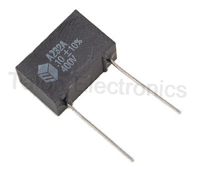 .1uf / 400VDC  Radial Metallized Polyester Box Capacitor
