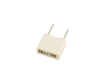 .056uF/100V radial film box capacitor
