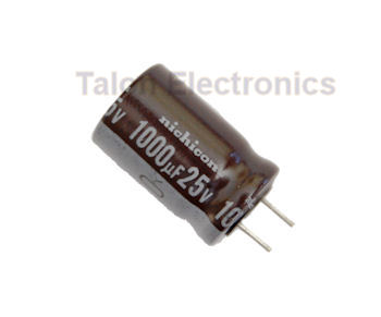 1000uF  25V Radial Electrolytic Capacitor PC Leads