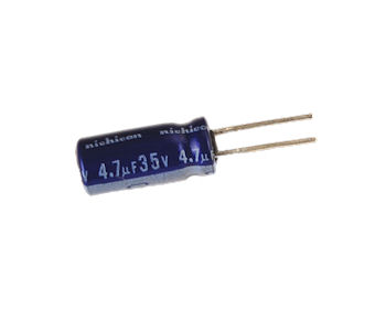 4.7uF  35V Radial Electrolytic Capacitor PC Leads