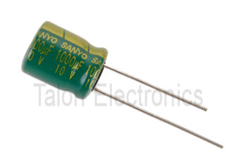1000uF  10V Radial Electrolytic Capacitor