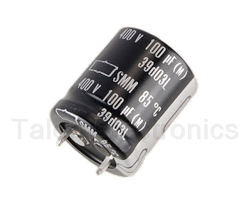 100 uf 400V Snap-In Electrolytic Capacitor