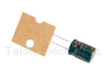 680uF   6.3V Radial Electrolytic Capacitor - 105 Degree Package of 20