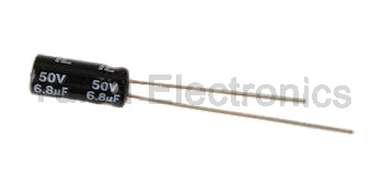 6.8uf 50V Radial Electrolytic Capacitor
