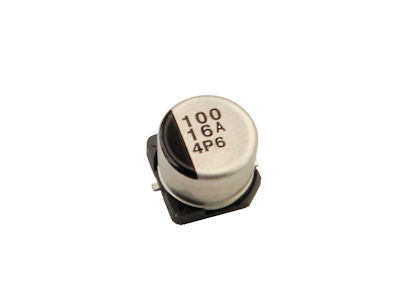 100 uf  16V Surface Mount Electrolytic Capacitor