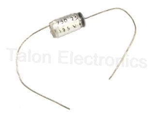 750pf, 2.5% 125V Axial Lead Polystyrene Capacitor