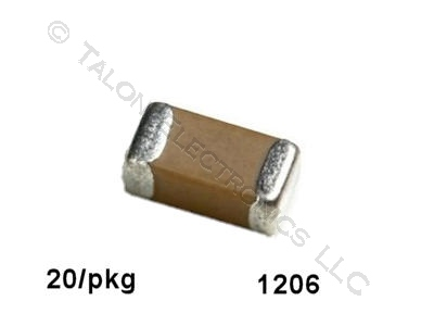 2.2uf, 16V  Surface Mount Ceramic Capacitor Size 1206 (Pkg of 20)