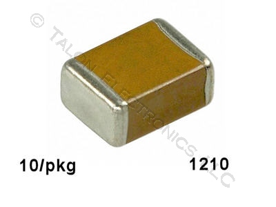 0.15uf,  50V Surface Mount Ceramic Capacitor Size 1210 (Pkg of 10)