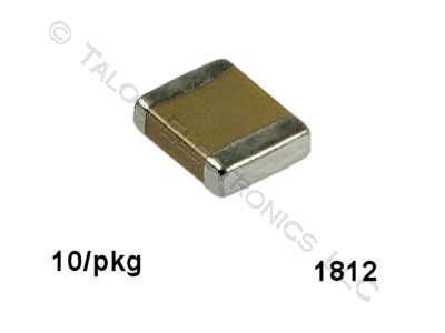 0.47uf, 25V Surface Mount Ceramic Capacitor Size 1812 (Pkg of 10)