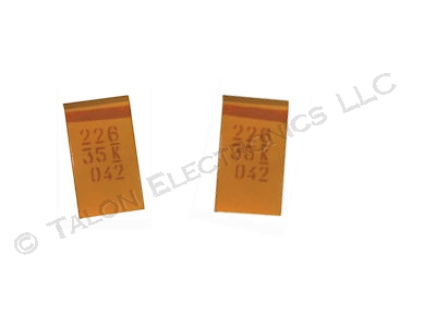 22uF 35V Surface Mount Tantalum Capacitor - Case D (Pkg of 2)
