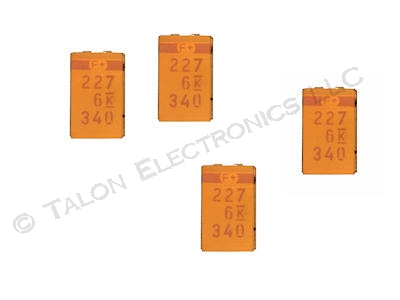 220uF 6V Surface Mount Tantalum Capacitor Case D (Pkg of 4)