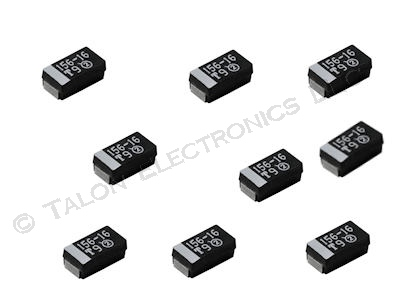 15uF 16V Surface Mount Tantalum Capacitor Case C (Pkg of 9)