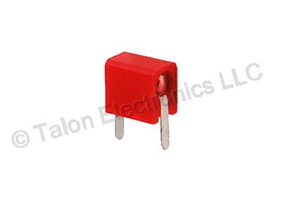 Red Tip - Test Jack Mini Horizontal PCB Mount For Diameter .080 Plug