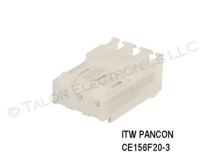 "ITW PANCON CE156F20-3 0.156"" 3 Pin Connector"