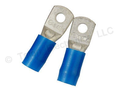 Solderless Ring Terminal - Crimp - 6 AWG Wire - 2 PACK