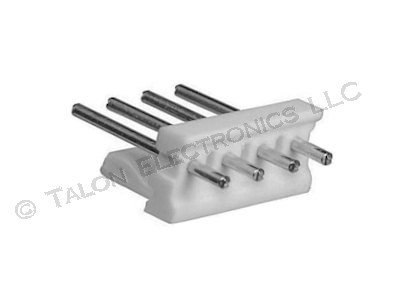 Tyco 640388-4 MTA 156 4 Pin Header with Round Pins (Pkg of 4)