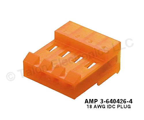 "AMP 640426-4 IDC 0.156"" 4 Pin Connector"