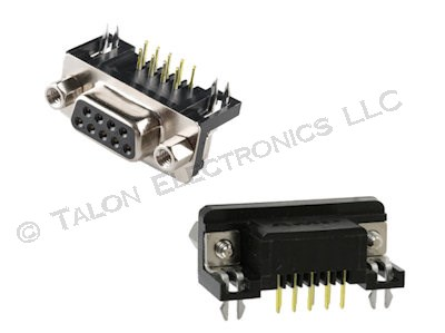 9 Pin D-Subminature PC Mount Female Connector
