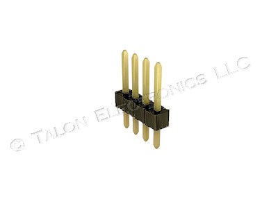 "1X4 Square 4 Pin Breakaway Header - .1"" - with Gold Plated Pins"