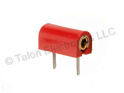 Red Low Voltage Horizontal PC Test Jack