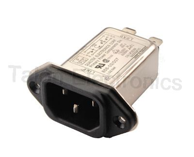 Qualtek 858-03/007 Filtered IEC Receptacle