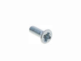 M2.5 X 8mm Steel Pozidriv Flat Head Machine Screw - 100 pack