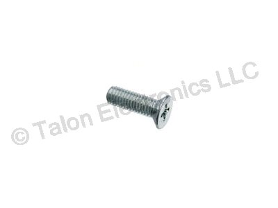 M2.5 X 8mm Steel Phillips Flat Head Machine Screw - 8 pack