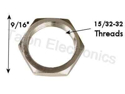 Hex Nut for 15/32-32 Threaded Switches