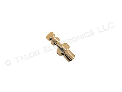 Double Turret Uninsulated Swage Terminal with Gold Plating 0.240 / 0.062 (Pkg of 4)