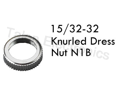 Knurled Dress Nut for 15/32-32 Threaded Switches