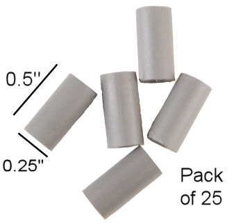 "0.50"" Long Unthreaded Nylon Round Standoff (25 per pkg)"