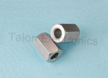 "0.375""  Long Hex Clear Hole Spacer, 1/4"" for #6 Screw  HH Smith 8582"