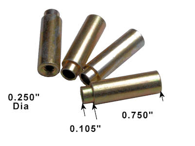 "0.75"" Long 6-32 Threaded Round Swage Standoff, .250"" Diameter (Pkg of 4)"