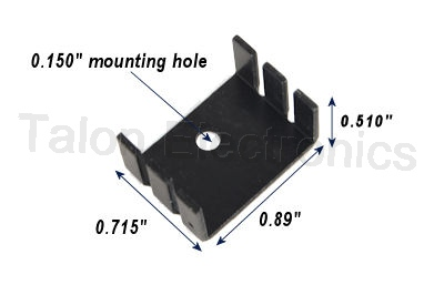 Aluminum Heat Sink for TO-220 and TO-3P Devices