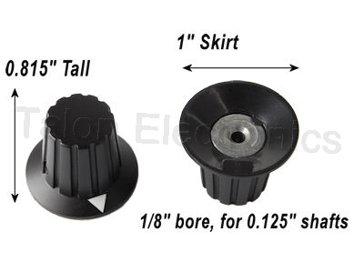 "Skirted Knob for .125"" Shafts"
