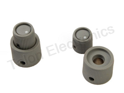 "Knob Pair for for .125"" and .250"" Concentric Shafts"