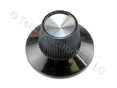 "Black Skirted Knob for .250"" Shafts ALCO PKS1104B-1/4"