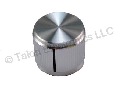 "Aluminum Knob With Index Line for .250"" Shafts KN-700A"