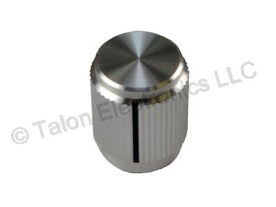 "Aluminum Knob With Index Line for .250"" Shafts K-500A"