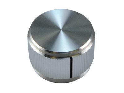 "Aluminum Knob With Index Line for .250"" Shafts KN-900A"