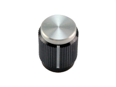 "Aluminum Two Tone Knob With Index Line for .250"" Shafts KN-500BA"