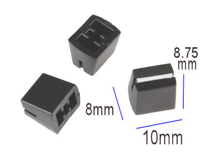 Black Slide Knob with White line - PAIR