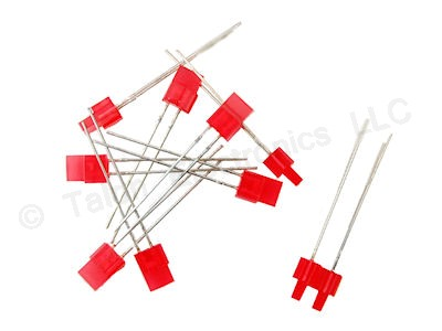 Red 4mm Stackable Red Rectangular LEDs (10 PACK)